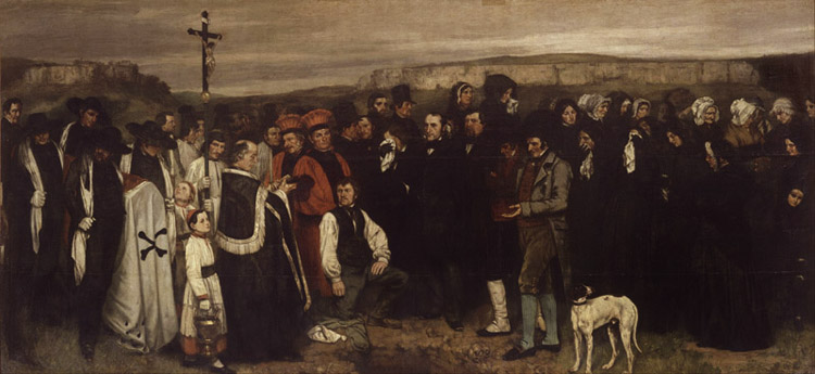 Burial at Ornans,Gustave Courbet,80x40cm