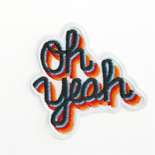 Oh yeah diy iron on patch embroidered applique sewing label patc