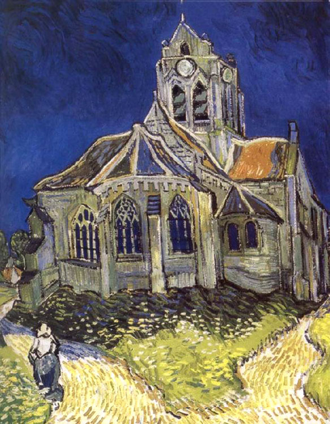 Church at Auvers,Vincent Van Gogh,60x50cm