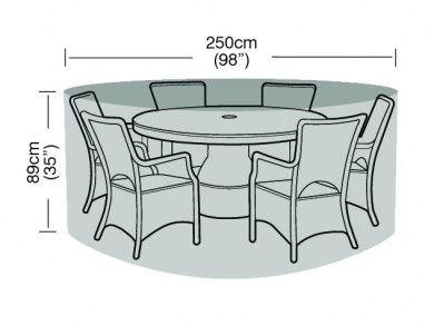 6-8 Seater Round Furniture Set Cover Waterproof Polyethylene Gre
