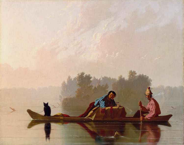 Fur Traders Descending the Missouri,George Caleb Bingham