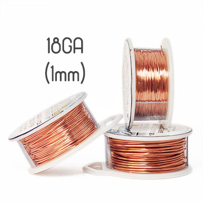 Solid copper wire 18ga (1mm grov)