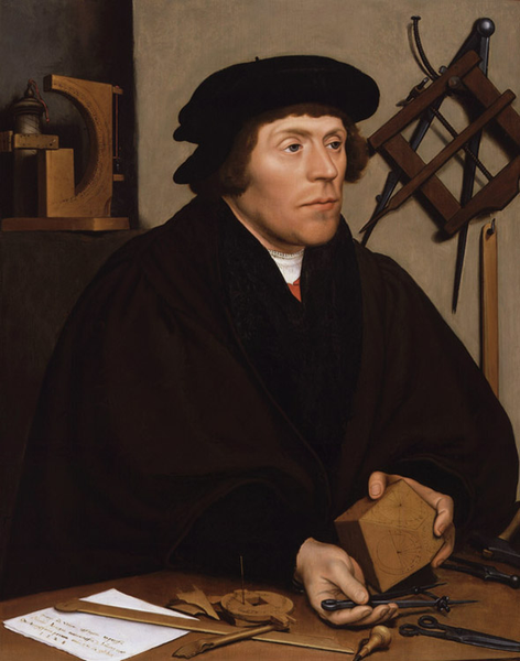 The astronomer Nikolaus Kratzer,Hans holbein the younger,50x40cm