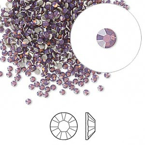 Swarovski flat back strass 1.7-1.9mm cyclamen opal 10-pack