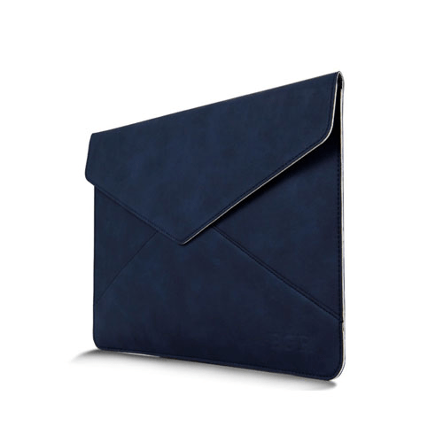 Leather bag for 13.3 inch laptops – blue