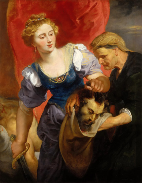 Judith with the Head of Holofernes,Peter Paul Rubens,50x40cm