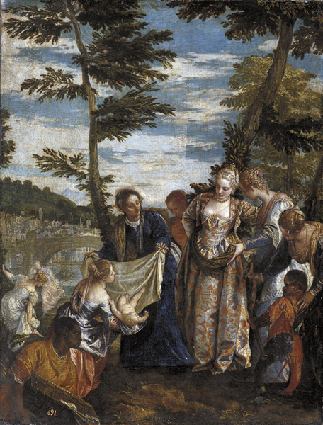 Moses Saved from the Waters of the Nile,Paolo Veronese,50x43cm