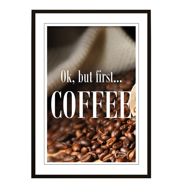 Poster - But first coffee No.9 21x30cm