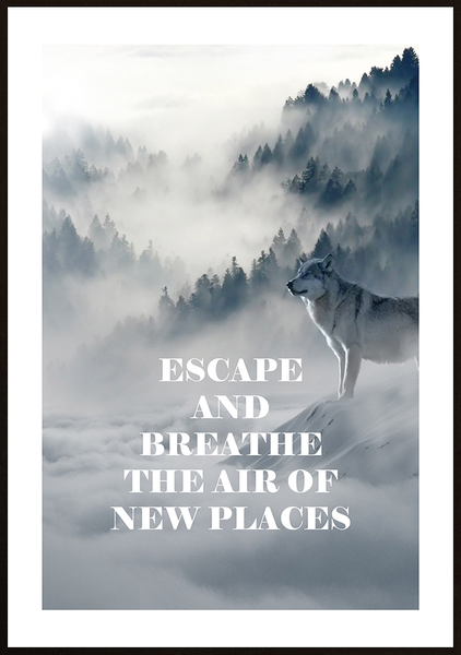 Poster - Escape and breathe No.3 40x50cm