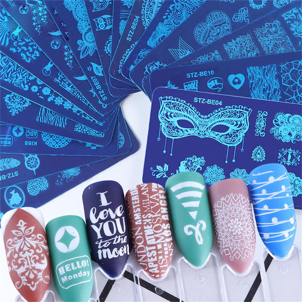 1pc nail stamping plate nail template manicure owl