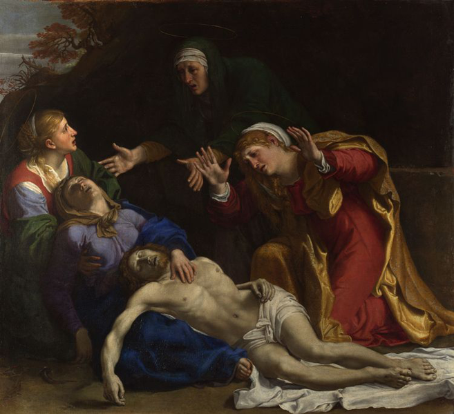 The The The Lamentation of Christ,Annibale Carracci,50x50cm 0a9979