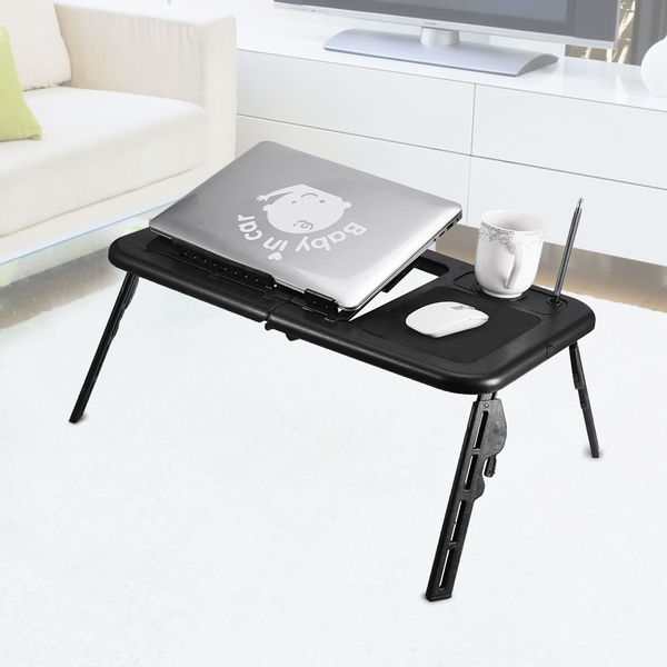 adjustable portable folding table bed desk stand for comp