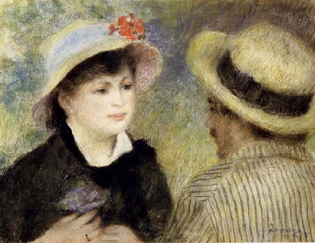Boating Couple (Aline Charigot and and and Renoir),Pierre Renoir,45.1x59 59d591