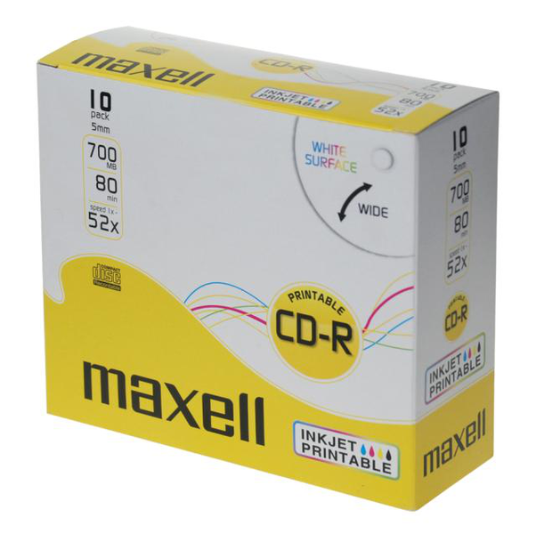 Maxell 10-pack cd-r printable