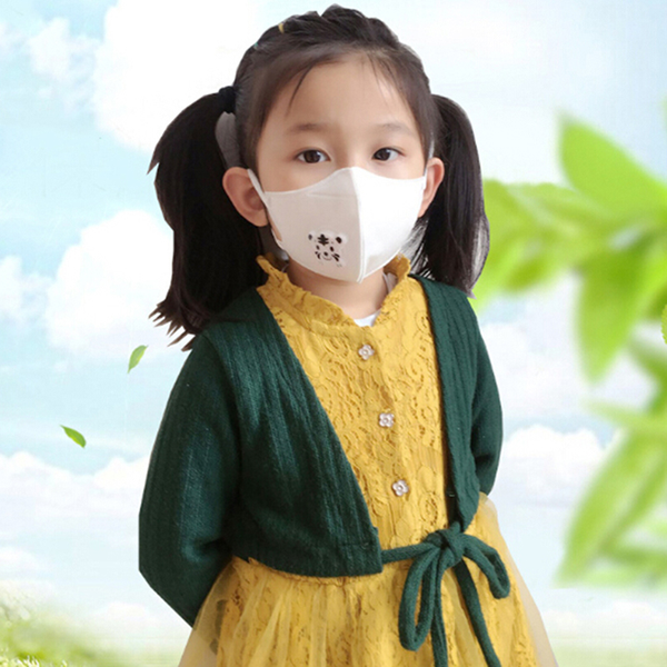 2pcs cartoon children pm2.5 mouth mask kids breath valve anti ha