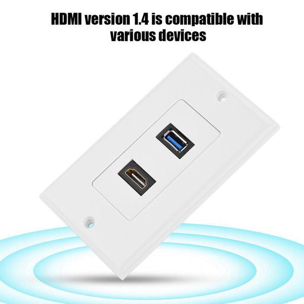 Hdmi usb3.0 two-in-one integrated multimedia wall panel audi