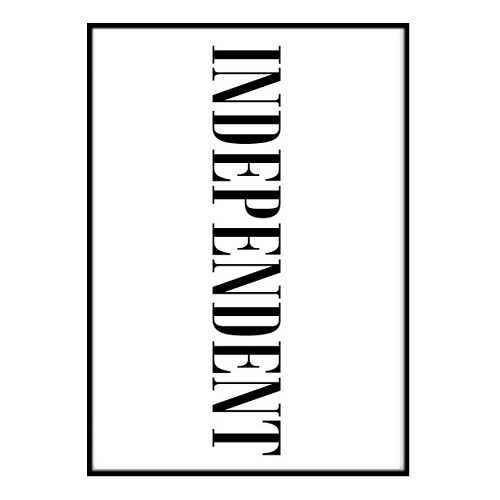 Poster - Independent 30x40cm