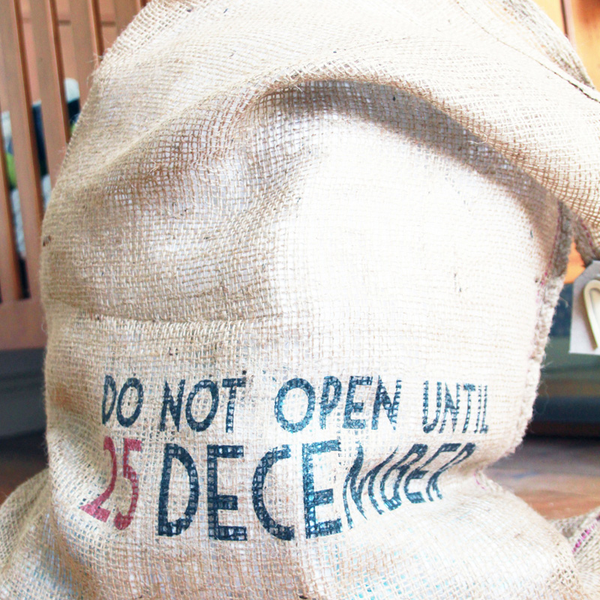 East of India 'Do Not Open Until 25 December' Hessian Santa S...