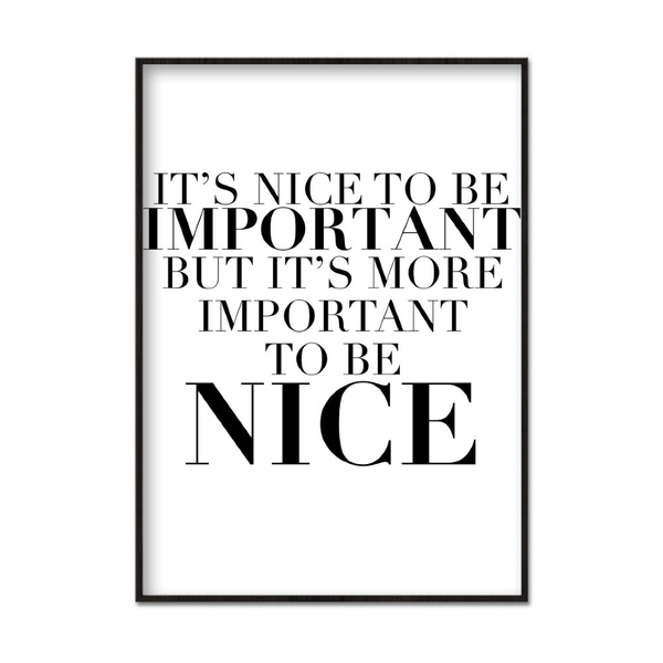 Poster A4 21x30cm Being Nice
