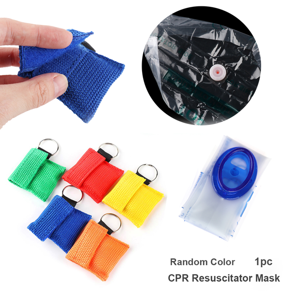 Cpr resuscitator mask emergency aid face shield artificial