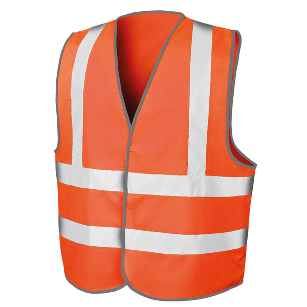 Result mens core safety hi viz vest fluorescent orange utrw3695