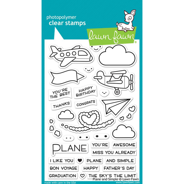 Clear stamps 4″x6″ – lawn fawn – plane & simple