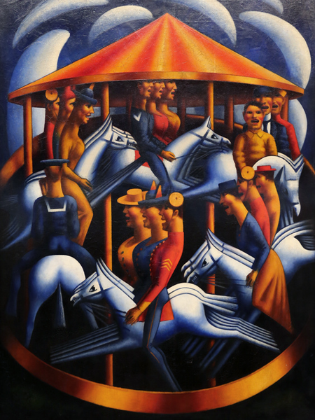 The Merry-Go-Round,Mark Gertler,50x40cm