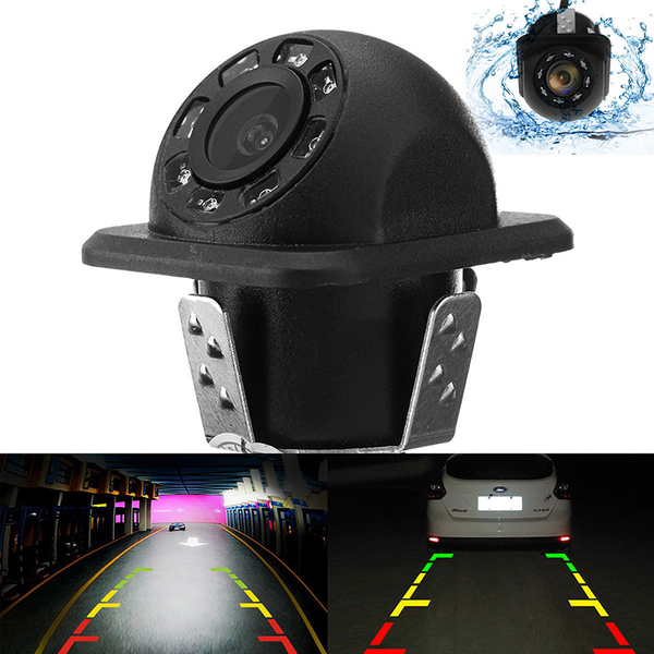 170° cmos car rear view backup camera reverse 8 led night vision