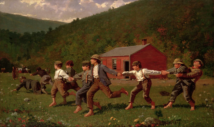 Snap the Whip,Winslow Homer,60x40cm