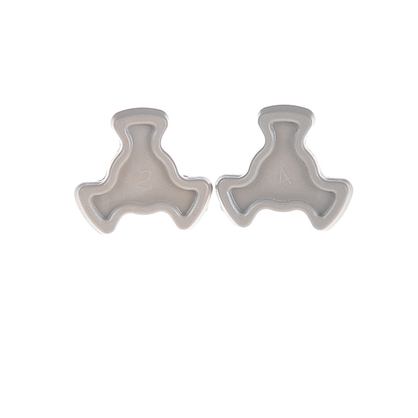 2pcs microwave oven turntable roller guide support coupler tray