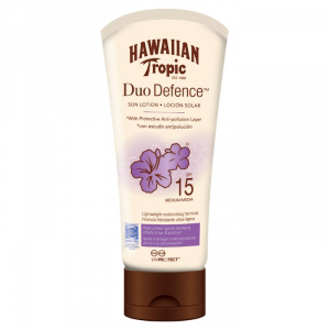 Hawaiian tropic duo defence sun lotion – spf 15