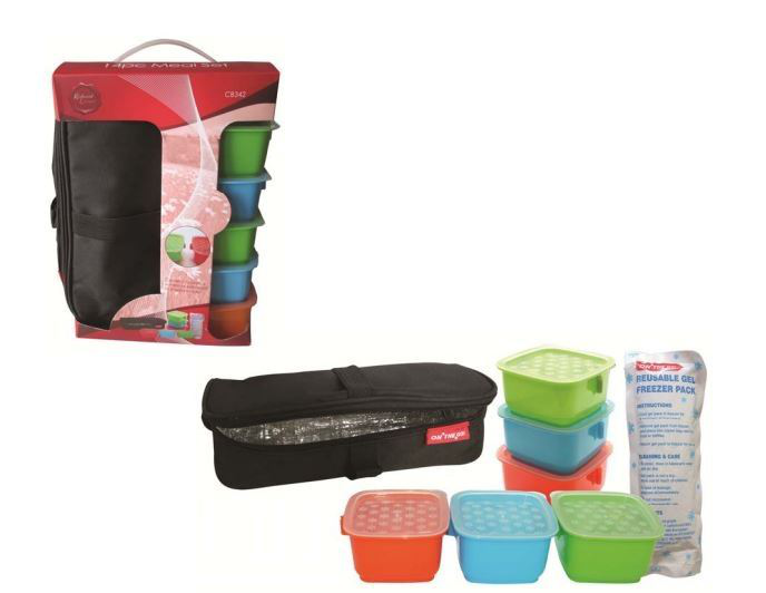 14pc Meal Meal Meal Set Insulated Lunch Bag For Camping Picnic Travel Work 380f37
