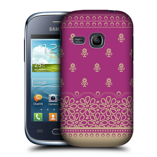 Skal till samsung galaxy young s6310 – flower design
