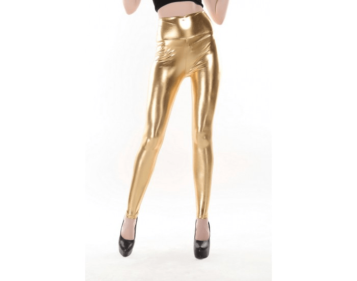High Waist guld Metallic Leggings