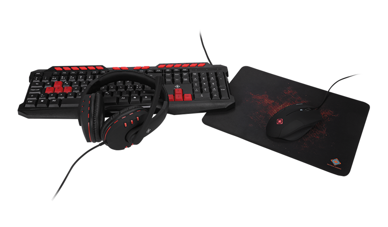 Deltaco gaming 4-in-1 gaming kit headset keyboard mouse