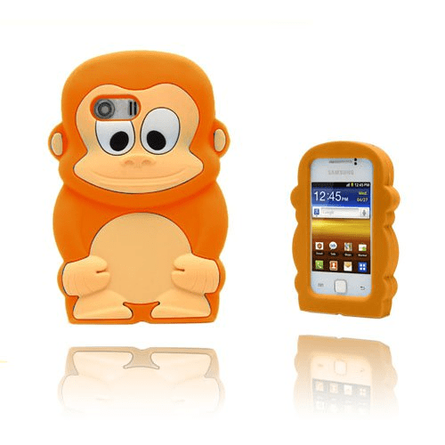 Funny monkey (orange) samsung galaxy y skal