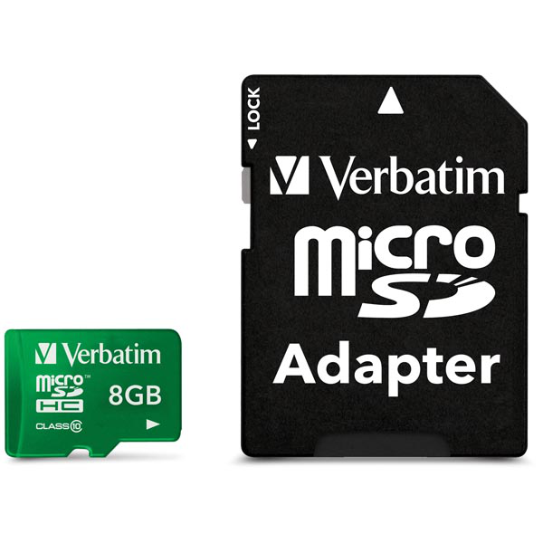 8gb verbatim original minneskort klass 10