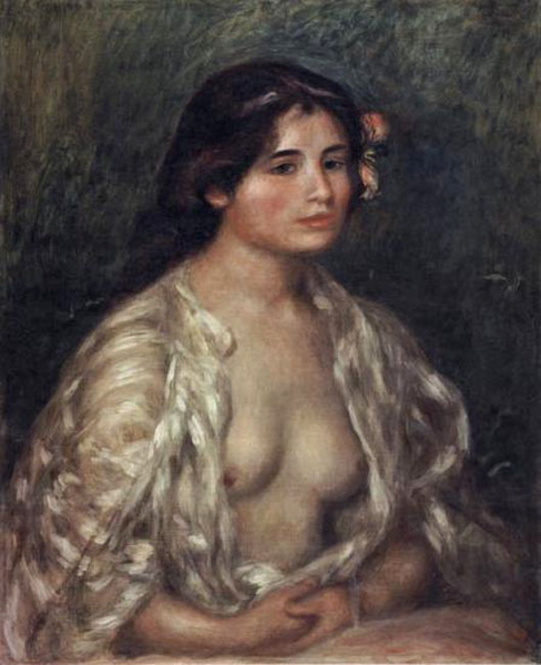 Female Semi-Nude,Pierre Renoir,65.5x53.5cm