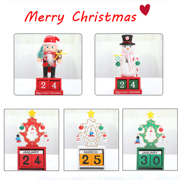 1pc advent calendars wooden crafts christmas gifts xmas ornament