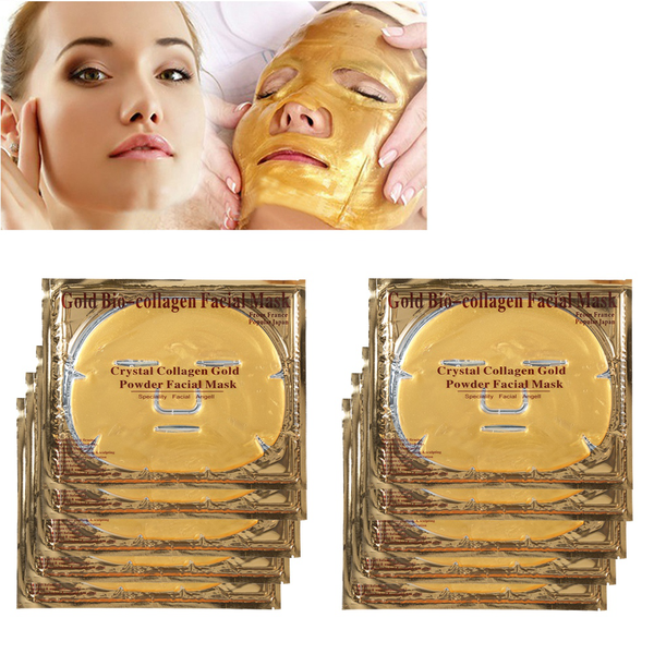 Face skin care crystal collagen mask gold powder moisture