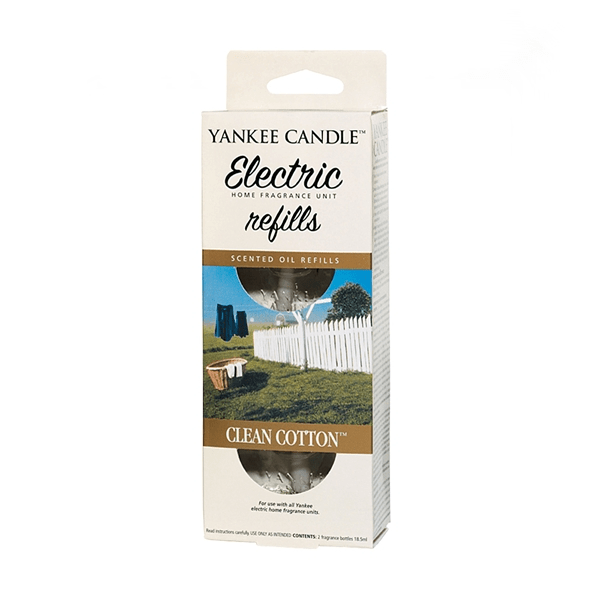 Yankee candle clean cotton electric refill 2 x 18,5ml