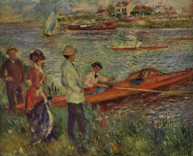 Boating Boating Boating Party at Chatou,Pierre Renoir,50x40cm 1eee66