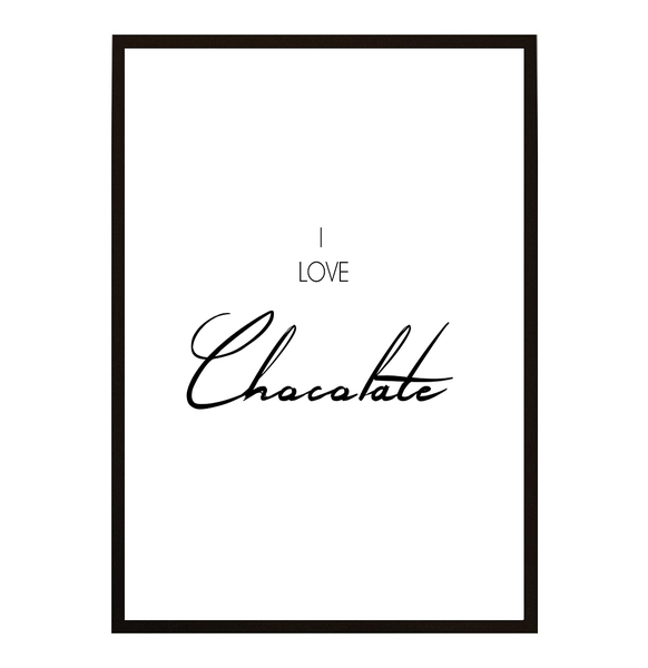 Poster - I love Chocolate 40x50cm