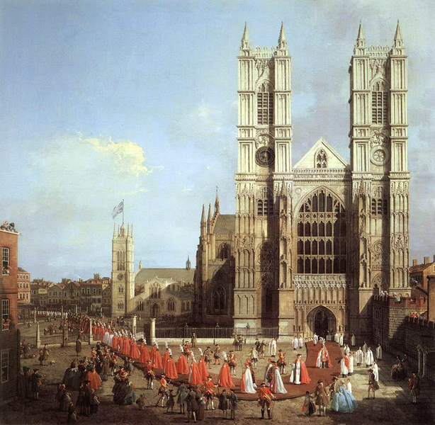 Wastminster Wastminster Wastminster Abbey with the Procession of,Canaletto,50x50cm 0c8317