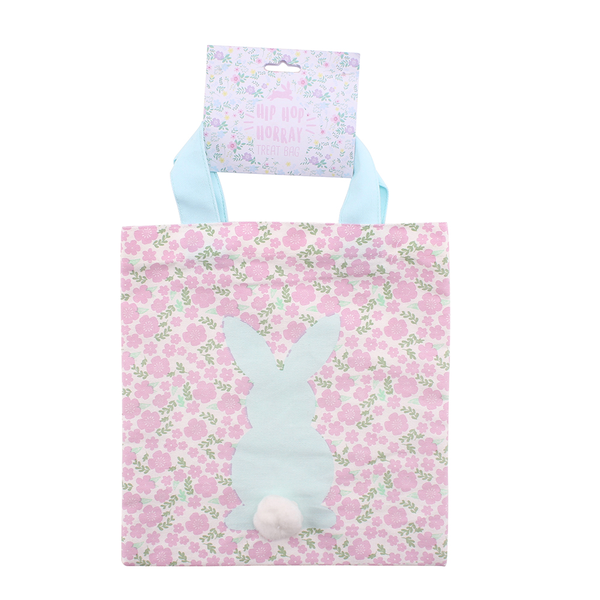 Sosa Floral Fabric Easter Treat Bag Set of 2 with Pom Pom Tail