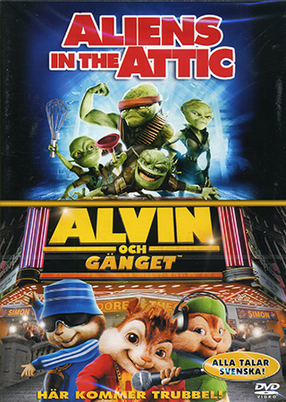 Aliens in the attic / alvin och gänget – dvd