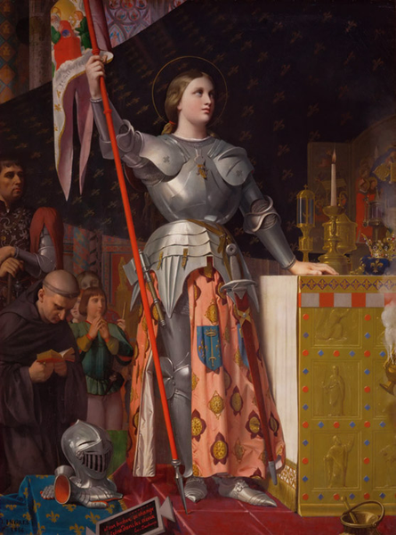 Joan of Arc at the,Jean Auguste Dominique Ingres,50x40cm