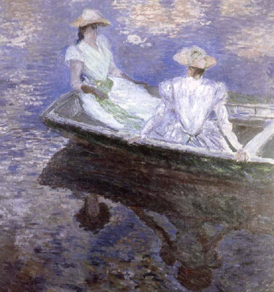 Young Girls in a boat,Claude Monet,50x50cm