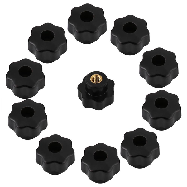 10pcs universal black color plastic round shape knob handle