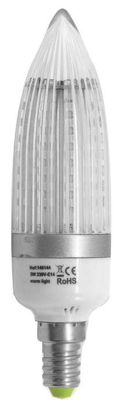 Kronlampa led e14 3w 6-pack